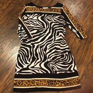 Joseph Ribkoff Leopard & Zebra Dress